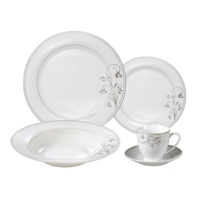 Gaskins Porcelain 24 Piece Dinnerware Set, Service for 4 LH117