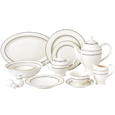 New Bone China 55 Piece Dinnerware Set Service for 8 Arianna-57