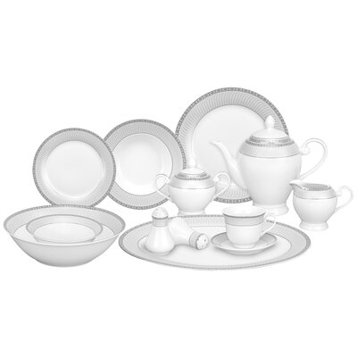Alina 57 Piece Porcelain Dinnerware Set Alina-SL