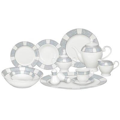 Domus Porcelain 57 Piece Dinnerware Set, Service for 8 Domus