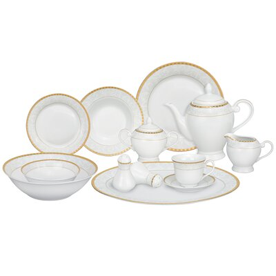 Ricamo 57 Piece Porcelain Dinnerware Set Ricamo-GD