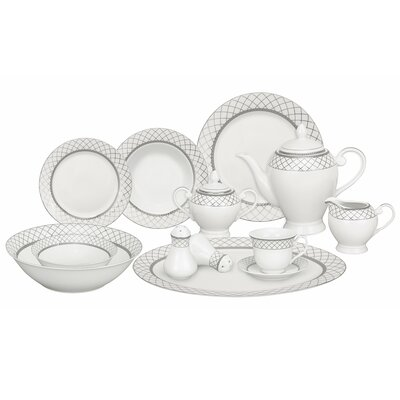 Verona 57 Piece Porcelain Dinnerware Set Verona