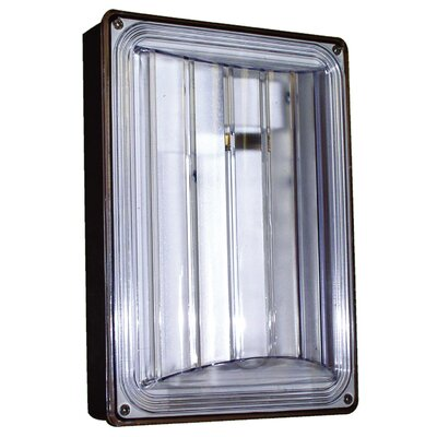 9 Watt 2700K Fluorescent Wall Light in Bronze