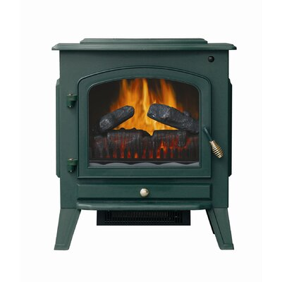 Stay-Warm Red Electric Stove Heater with Remote Control Color: Red