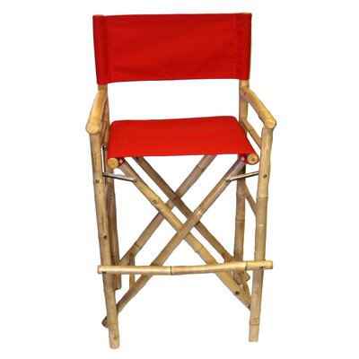 28 Bar Stool Upholstery: Red