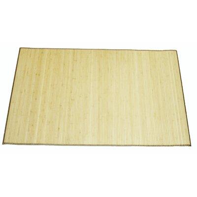 Natural Bamboo Mat Rug Size: 4 x 6