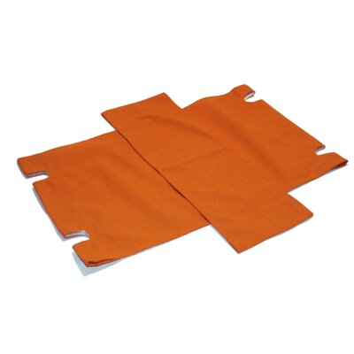 2 Chair Slipcovers Upholstery: Orange