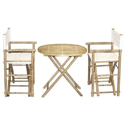 3 Piece Bistro Set Finish: Natural