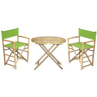 3 Piece Bistro Set Finish: Green