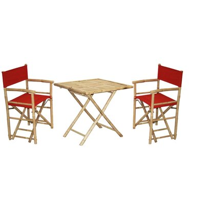 3 Piece Bistro Set Finish: Red