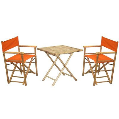 3 Piece Bistro Set Finish: Orange