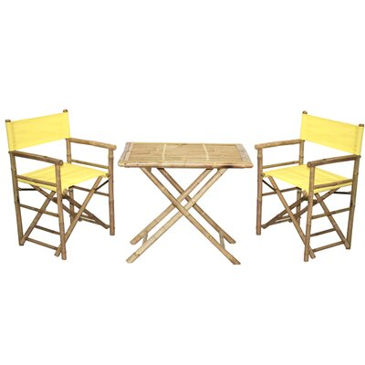 3 Piece Bistro Set Finish: Yellow