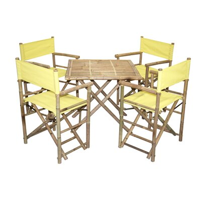 5 Piece Dining Set Finish: Yellow