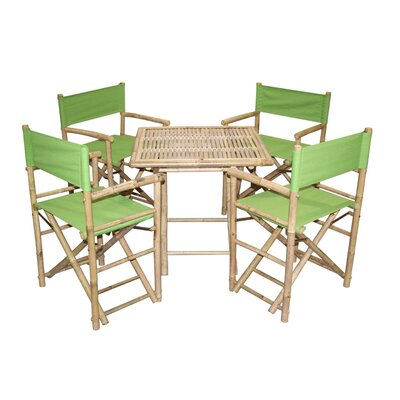 5 Piece Dining Set Finish: Green