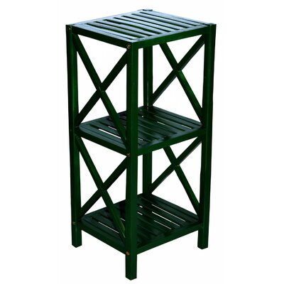 Bamboo 3 Tier End Table Color: Green