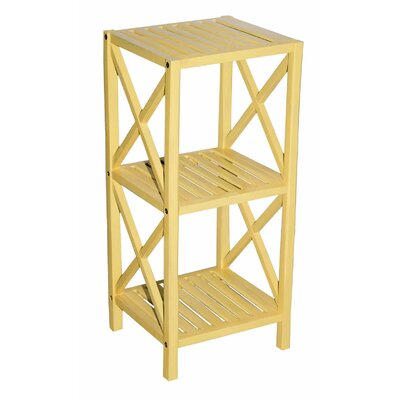 Bamboo 3 Tier End Table Color: Yellow