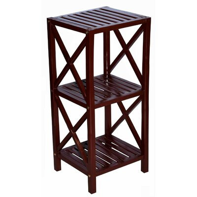 Bamboo 3 Tier End Table Color: Brown