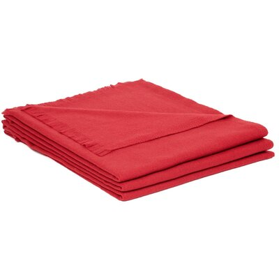 Wool Throw Color: Rouge