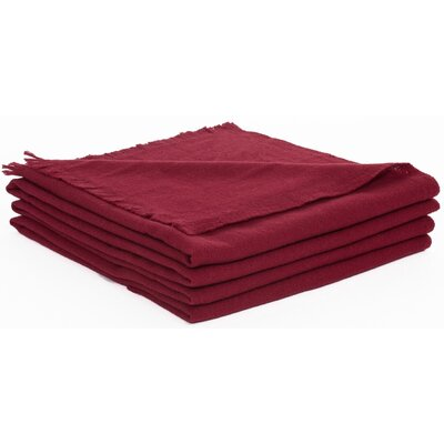 Wool Throw Color: Bordeaux