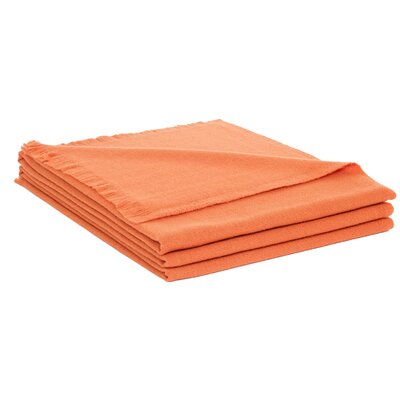Wool Throw Color: Orange