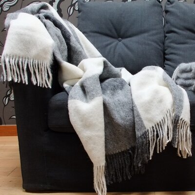 Alpaca Throw Color: Gray