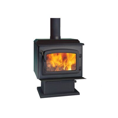 Escape 1800 Black Door Wood Stove on Pedestal