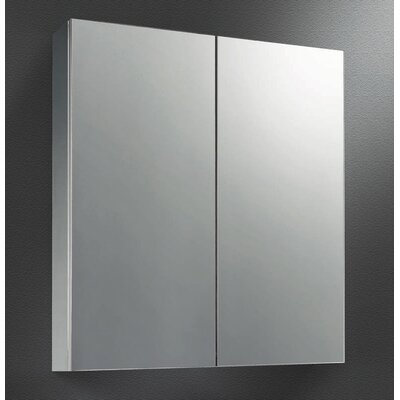 Dual Door 23 x 26 Surface Mount Medicine Cabinet Finish: Satin Stainless Steel