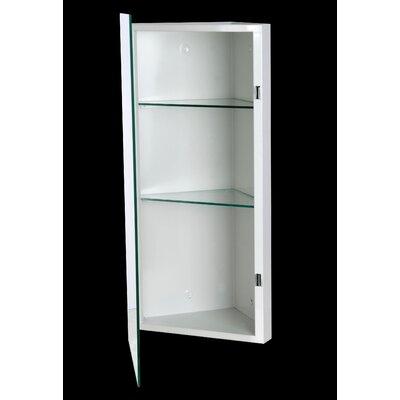 """Benito 14"""" x 42"""" Corner Mount Framed Medicine Cabinet with 2 Adjustable Shelves"""