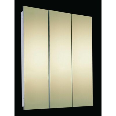 Tri View Medicine Cabinet Partially Recessed Mounted Size 36 H X 48 W Mount Edge Frmeles Beveled Edg Mirror