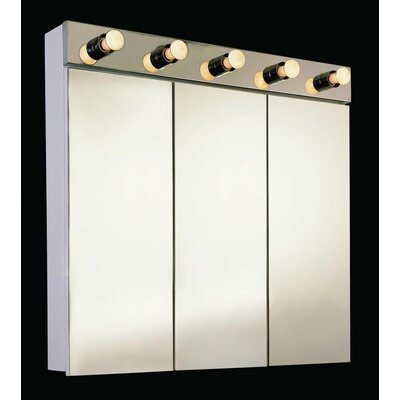 Tri-View 24 X 34 Surface Mount Medicine Cabinet with Lighting