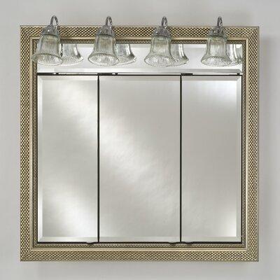 "Signature Plain Mirror Finish: Elegance Silver, Size: 24"" X 36"""