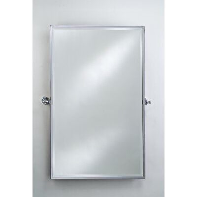 Radiance Gear Tilt Large Mirror Finish: Satin Nickel