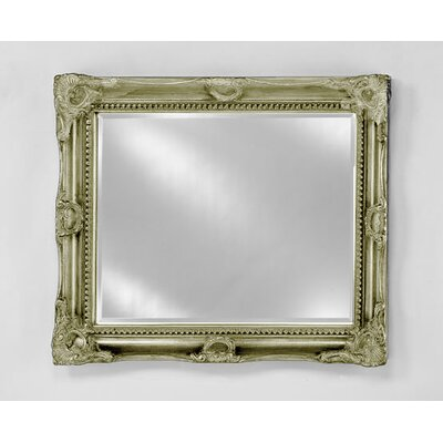 "Estate Bevel Framed Wall Mirror Finish: Antique Silver, Size: 28"" x 34"