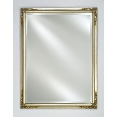 "Estate Framed Wall Mirror Finish: Antique Silver, Size: 24"" x 30"