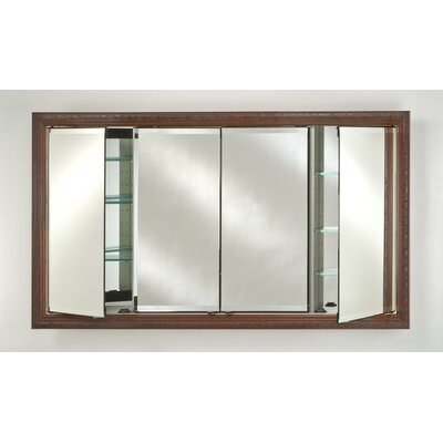 Signature 63 x 36 Recessed Medicine Cabinet Finish: Tuscany Antique Silver
