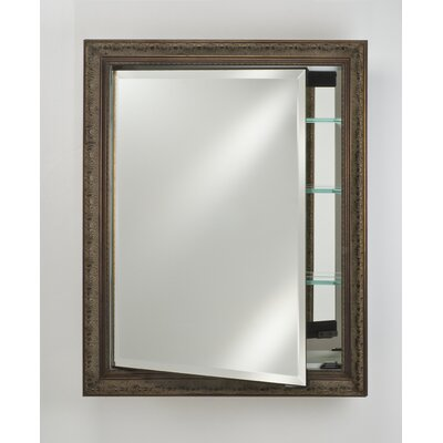 Signature 17 x 26 Recessed Medicine Cabinet Finish: Tuscany Antique Silver