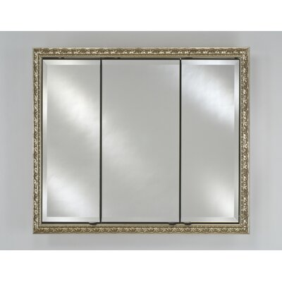 Signature 34 x 30 Recessed Medicine Cabinet Finish: Valencia Antique Silver