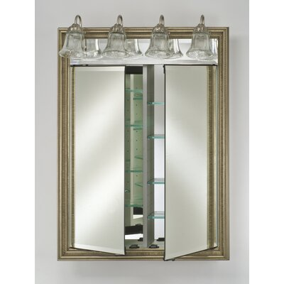 Signature 31 x 40 Recessed Medicine Cabinet with Lighting Finish: Tuscany Antique Silver