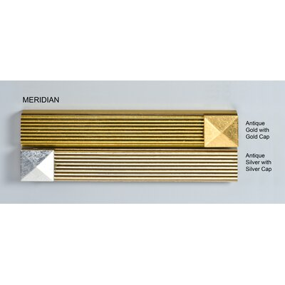 Signature 44 x 34 Recessed Medicine Cabinet with Lighting Finish: Meridian Gold with Silver Caps