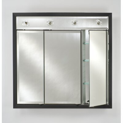 Signature 47 x 40 Recessed Medicine Cabinet with Lighting Finish: Soho Satin White