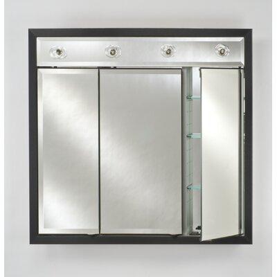 Signature 47 x 40 Recessed Medicine Cabinet with Lighting Finish: Soho Satin White