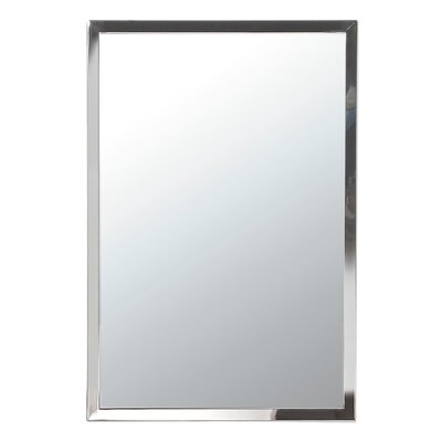 Steel 15.5 x 28 Recessed Medicine Cabinet Finish: Polished