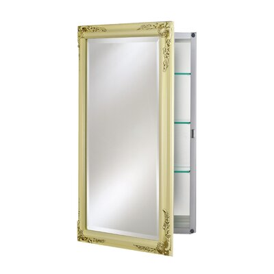Basix Plus 16 x 26 Recessed Medicine Cabinet Finish: Antique Bisque