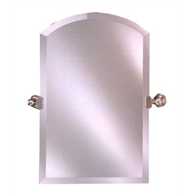 "Radiance Arch Tilt Wall Mirror Hardware Finish: Polished Brass, Size: 24"" x 35"