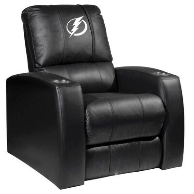 HT Leather Manual Recliner NHL Team: Tampa Bay Lightning