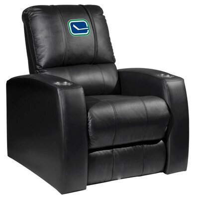 HT Leather Manual Recliner NHL Team: Vancouver Canucks - Alternate