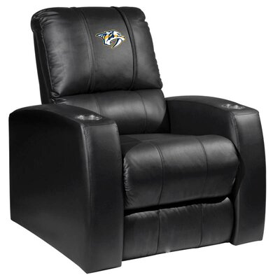 HT Leather Manual Recliner NHL Team: Nashville Predators