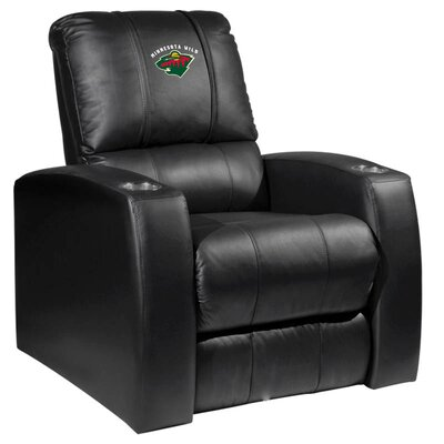 HT Leather Manual Recliner NHL Team: Minnesota Wild