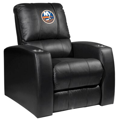 HT Leather Manual Recliner NHL Team: New York Islanders
