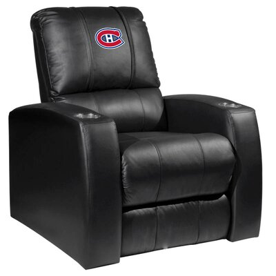 HT Leather Manual Recliner NHL Team: Montreal Canadiens